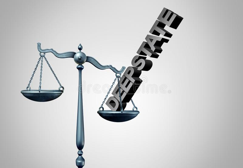 Deep State Political Justice vector illustration