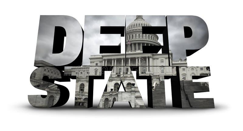 Deep State Political United States Symbol royalty free illustration
