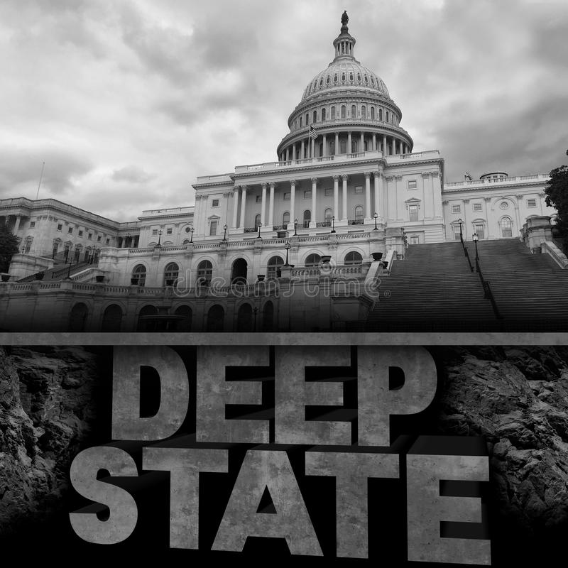 Deep State Politics Concept royalty free illustration