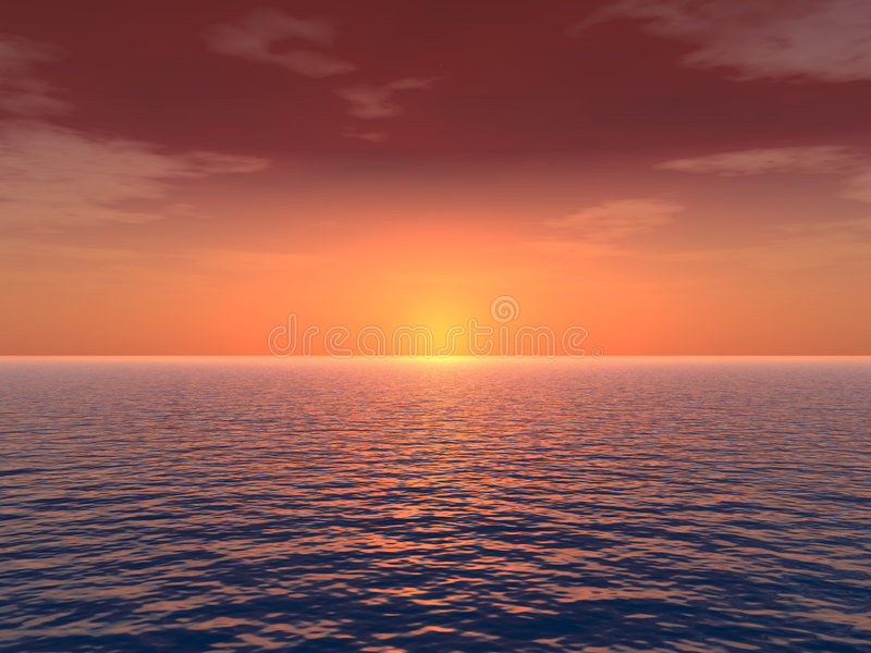 Deep_Sunset royalty illustrazione gratis