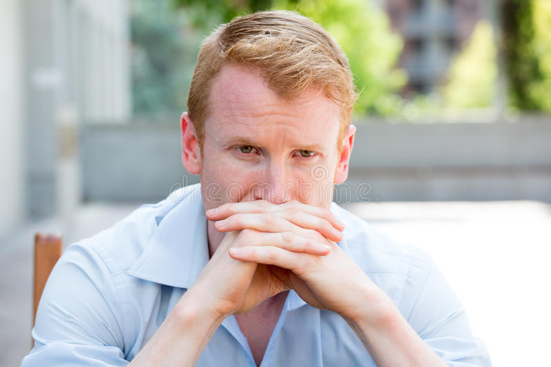 Deep thinker royalty free stock images