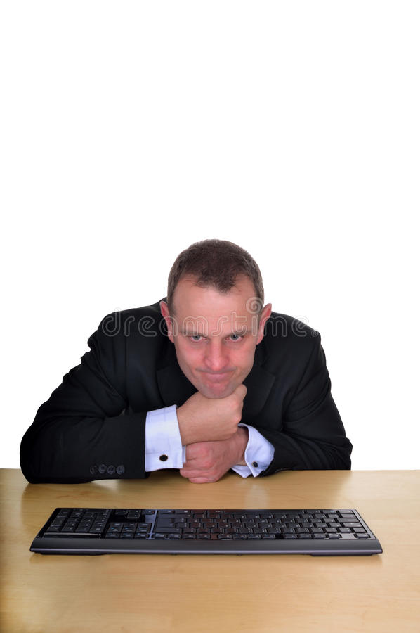 Download Deep thought stock photo. Image of issue, computer, stumped - 32688460