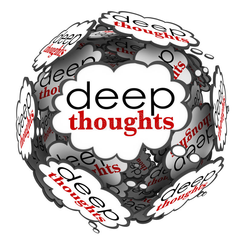 Free Deep Thoughts Profound Important Ideas Cloud Sphere Royalty Free Stock Image - 37251026
