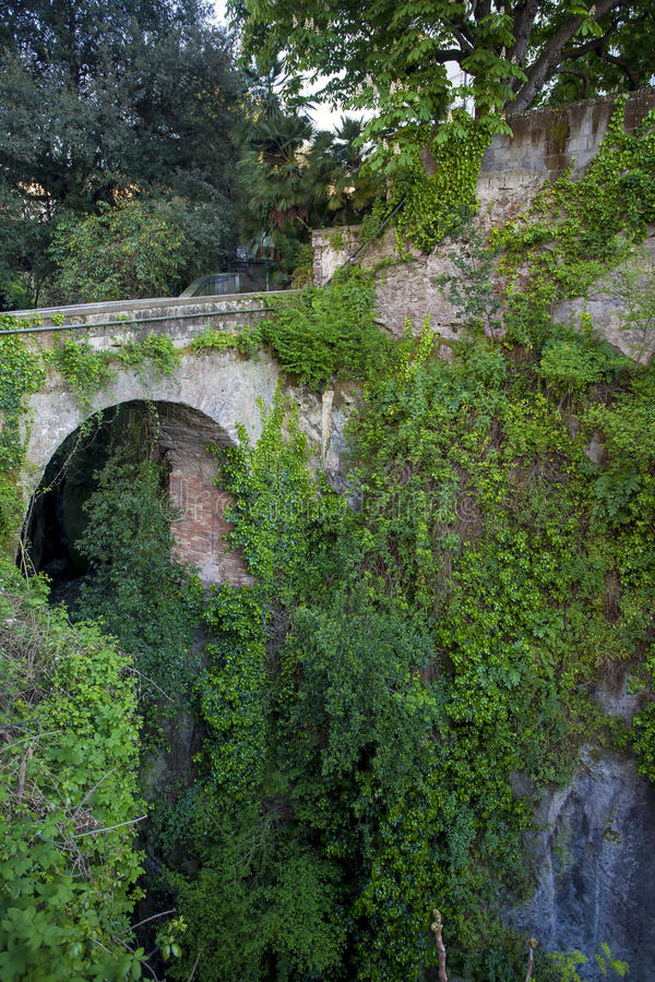 Deep valley of the mills in Sorrento. View of the deep valley of the mills in Sorrento, Italy royalty free stock photo