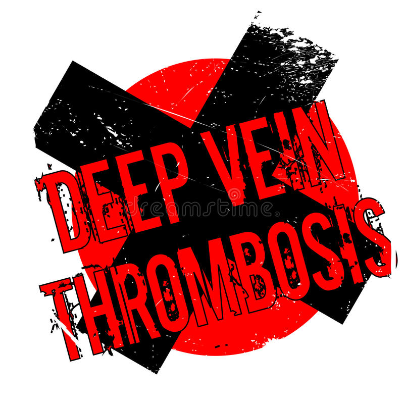 Deep Vein Thrombosis rubber stamp. Grunge design with dust scratches. Effects can be easily removed for a clean, crisp look. Color is easily changed vector illustration