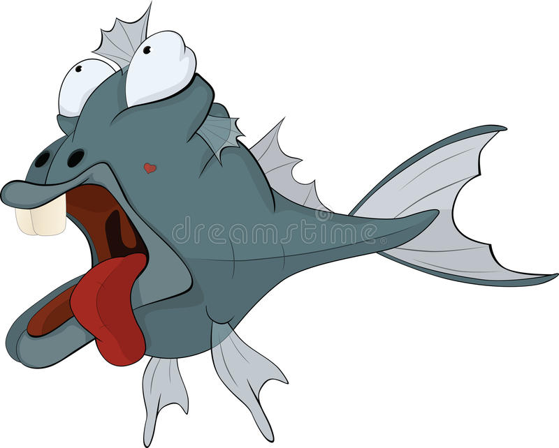 Download Deep-water fish. Cartoon stock vector. Image of film - 19939596