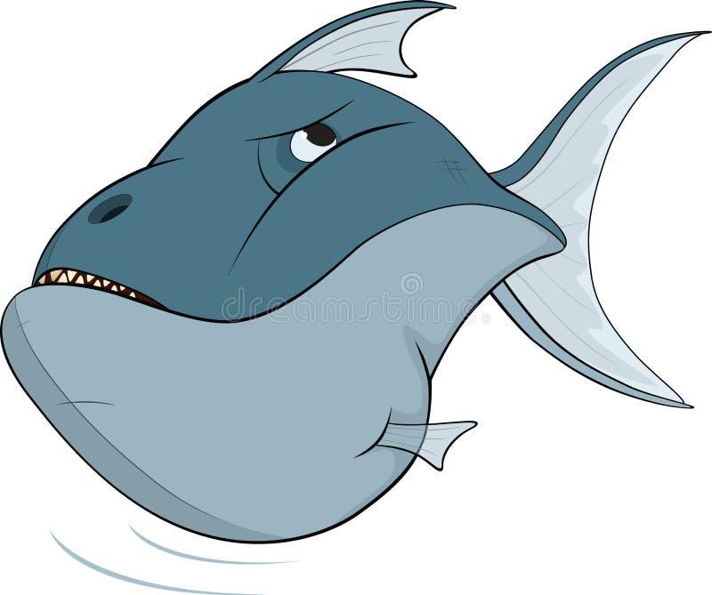 Deep-water fish. Cartoon royalty free illustration