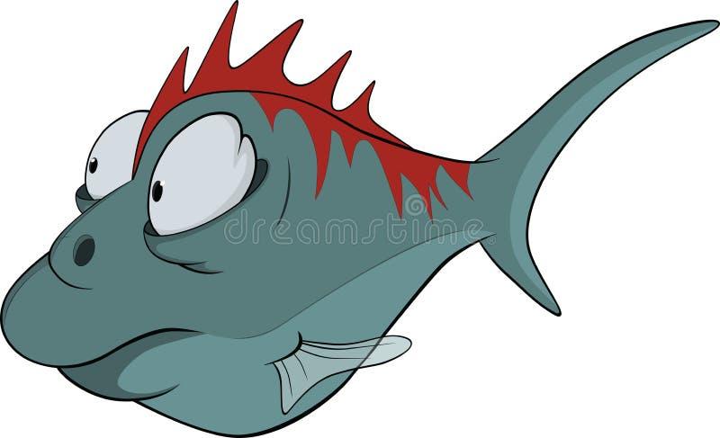 Deep-water fish. Cartoon vector illustration