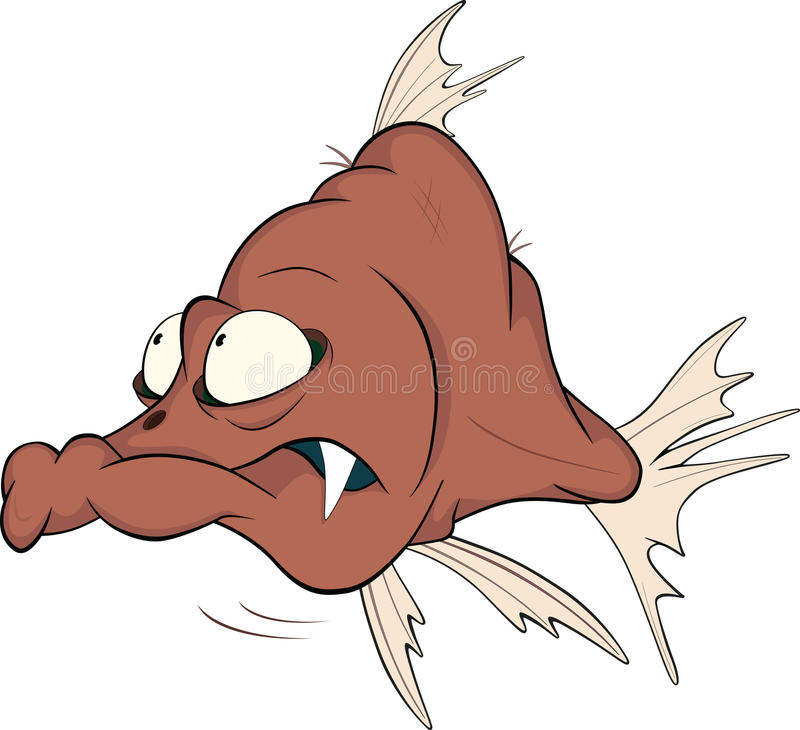 Deep water fish. Cartoon vector illustration