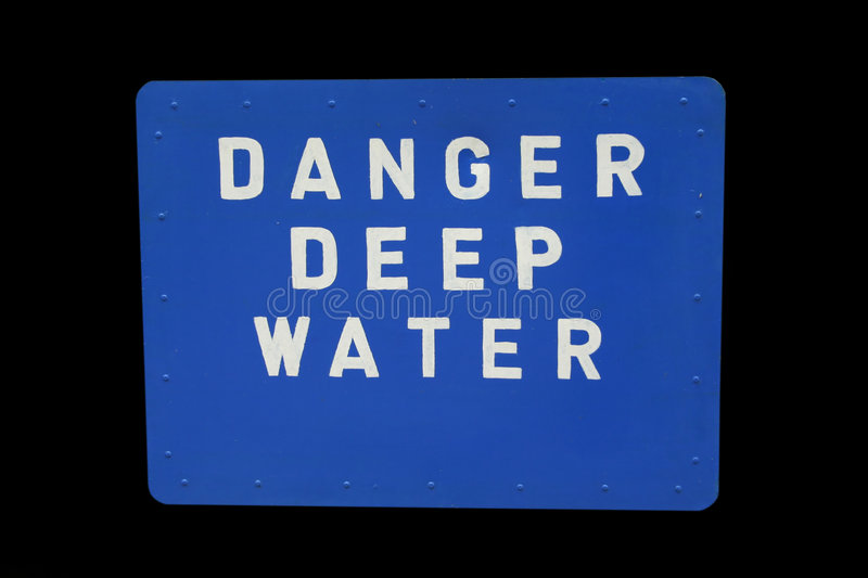 Deep water sign royalty free stock photos