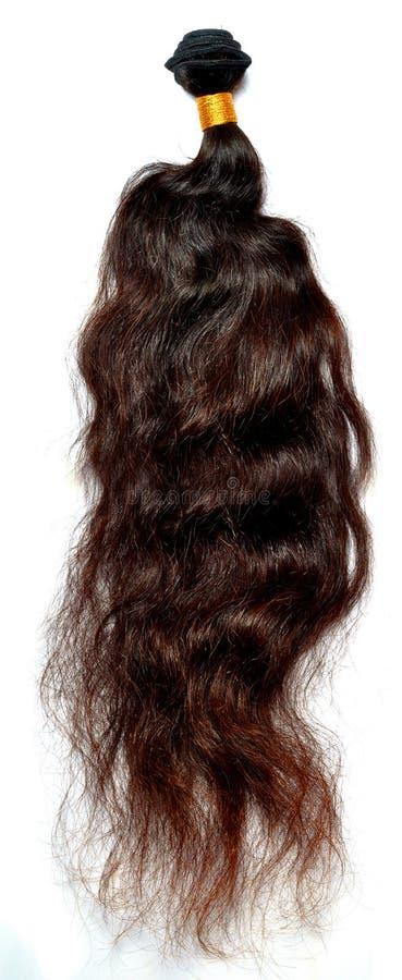 Deep wavy brown hair royalty free stock photos