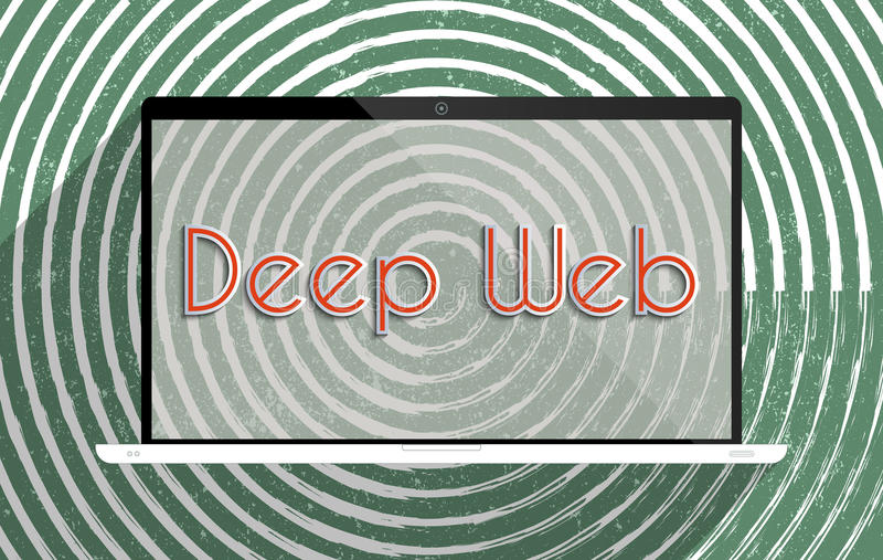 Deep web. Concept for information security and invisible internet content. Flat design illustration stock illustration