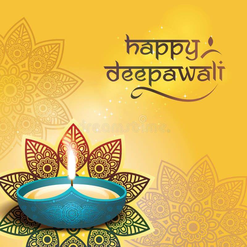 Deepavali-Festivaldesign stock abbildung