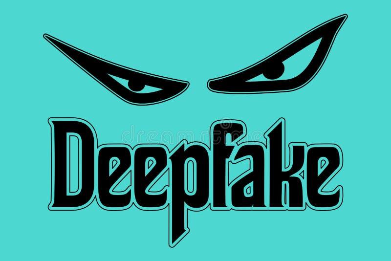 Deepfake凶眼概念传染媒介 免版税库存图片