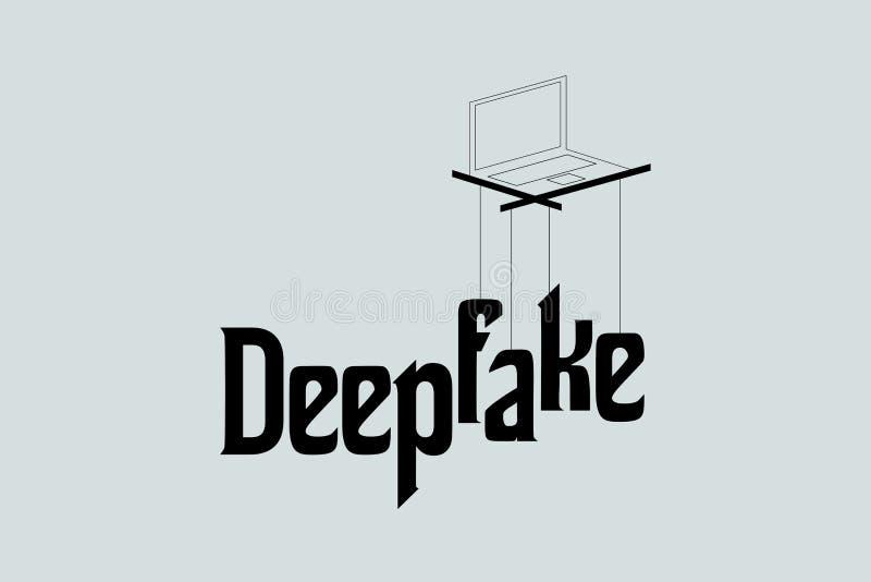 Deepfake概念传染媒介 免版税图库摄影