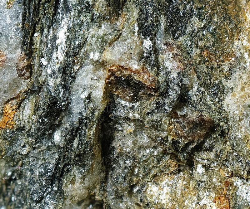 Deeply Fissured Rock royalty free stock photo