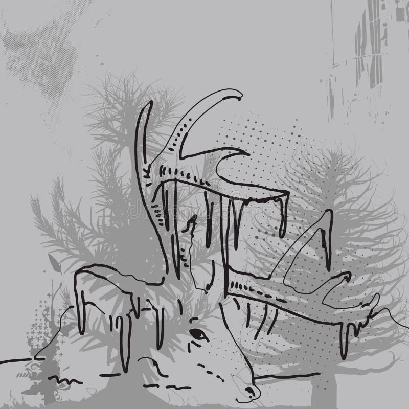 Deer royalty free illustration