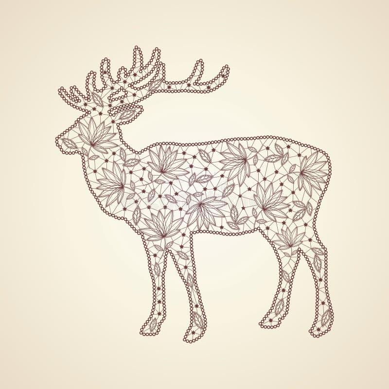 Download Deer stock vector. Image of shine, banner, decoration - 27808433