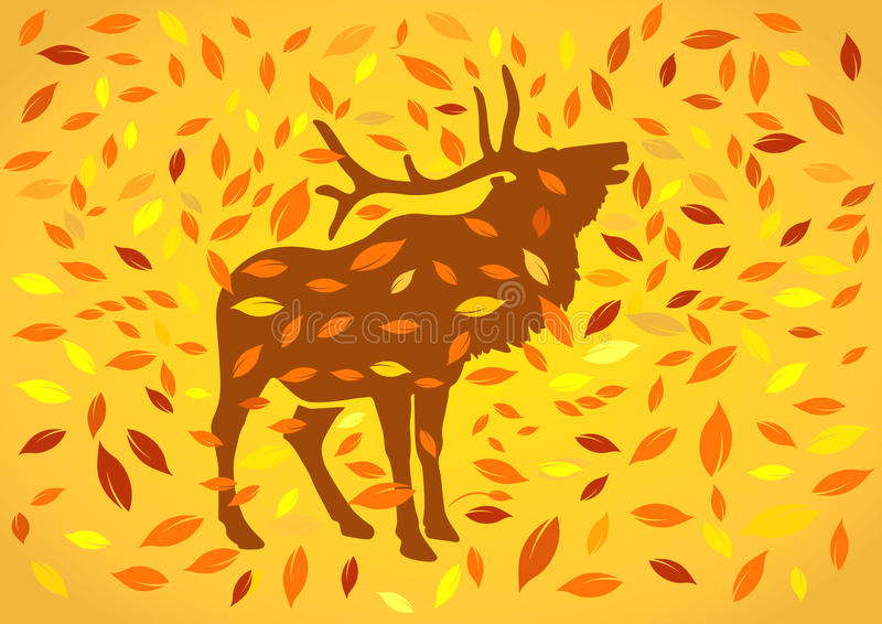 Download Deer at autumnal stock vector. Image of october, foliage - 16813191