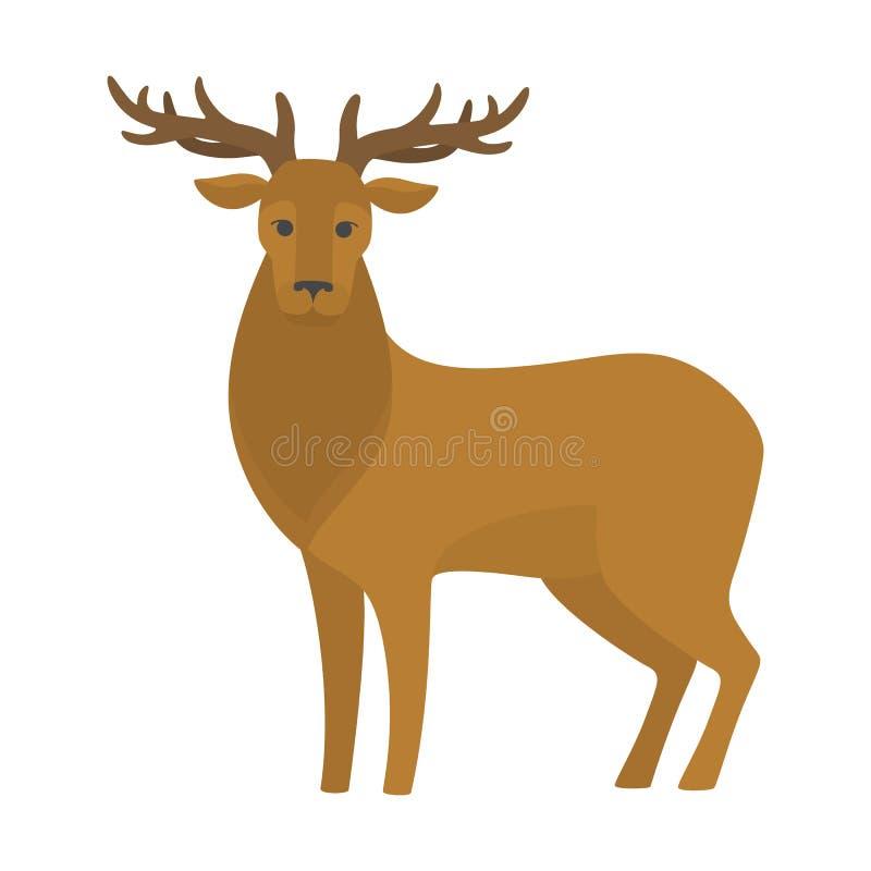 Deer with big antler. Elegant wild animal. vector illustration