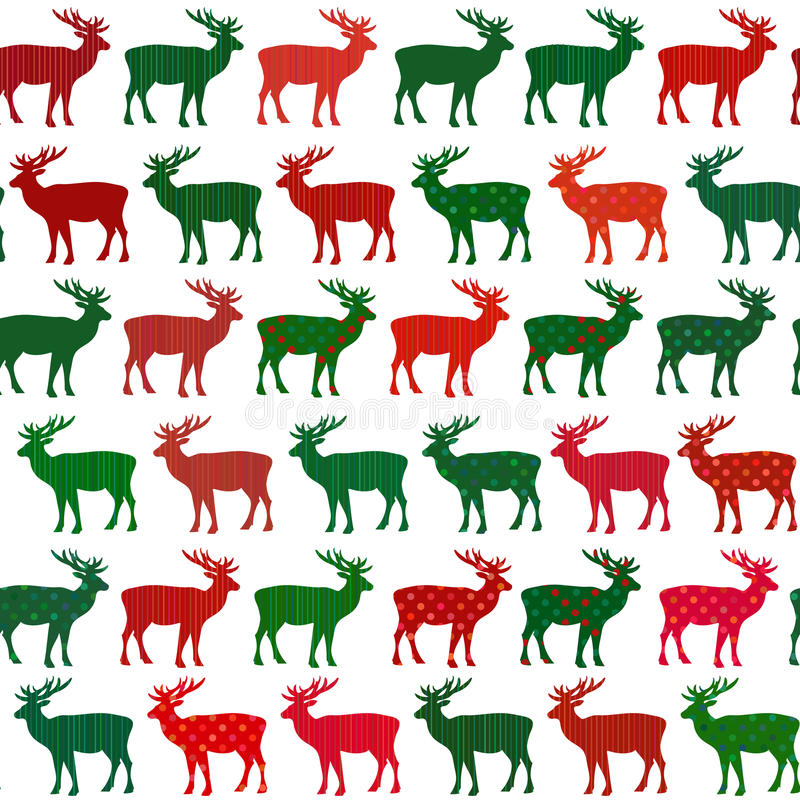 Deer Christmas holiday vector seamless pattern vector illustration