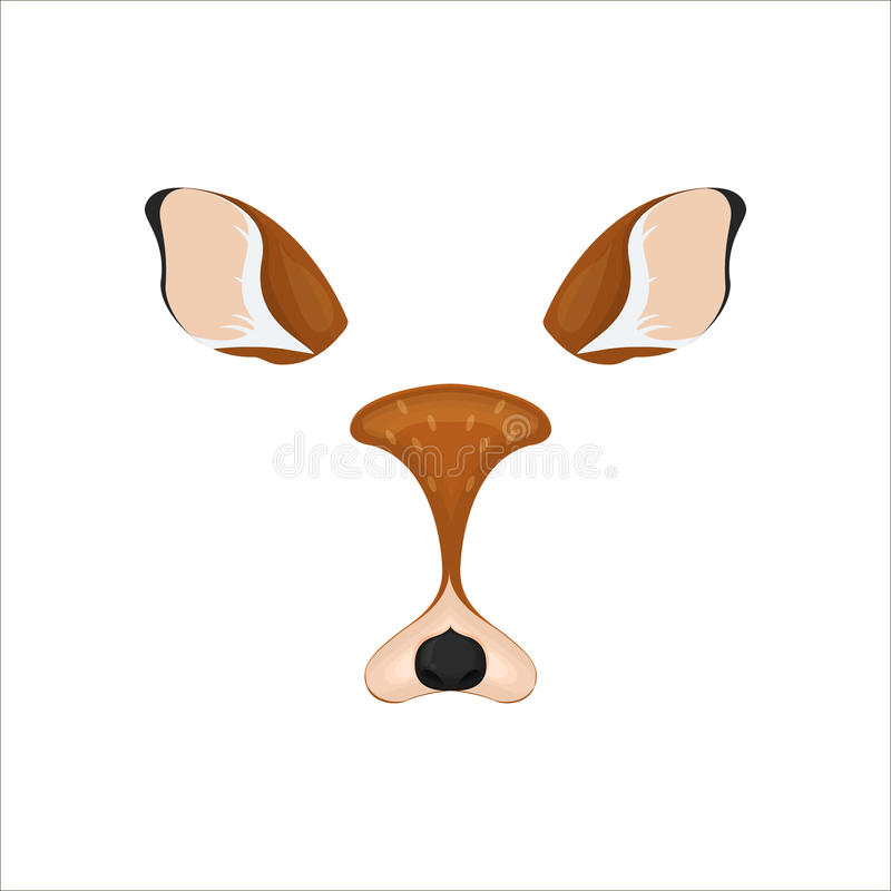 Free Deer Face Elements. Vector Illustration. Animal Character Ears And Nose. Video Chart Filter Effect For Selfie Photo Decoration. Ca Royalty Free Stock Photography - 93528207
