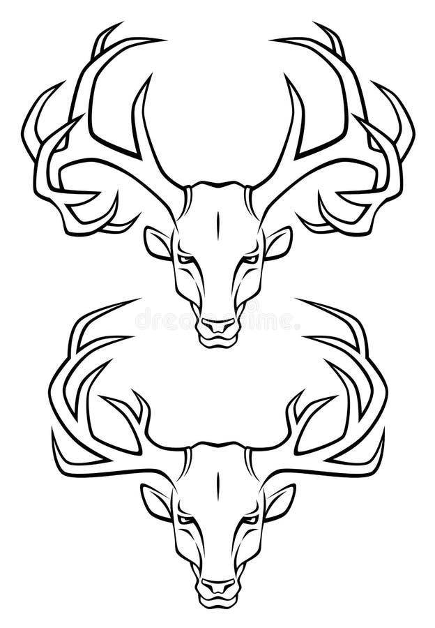 Download Deer head stock vector. Illustration of emblem, head - 16285667