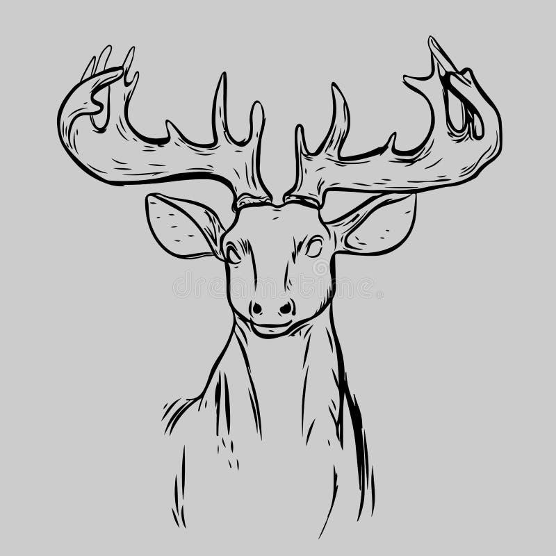 Deer Head Animal Symbol Stock Vector Illustration Of Background