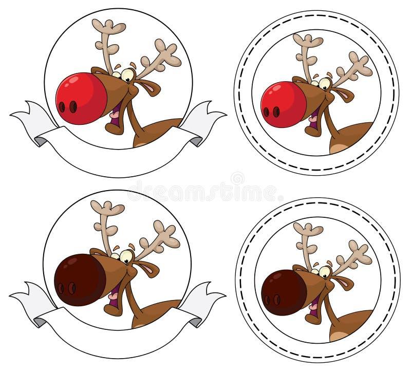 Download Deer head banner stock vector. Image of winter, head - 21956794