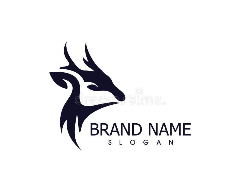 Deer head icon silhouette logo design minimalist template vector illustration