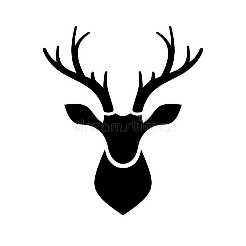 deer head icon vector logo stock vector illustration of. Black Bedroom Furniture Sets. Home Design Ideas