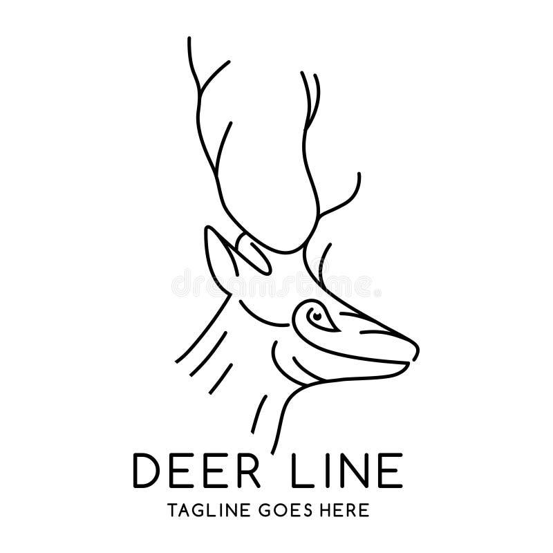 Deer head outline logo. Your company stock illustration