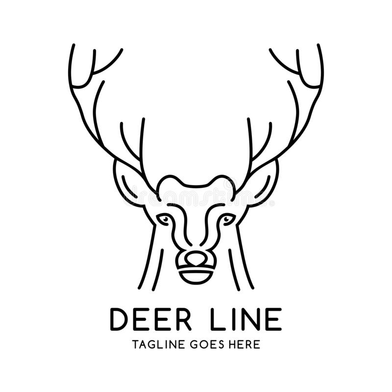 Deer head outline logo. Your company royalty free illustration