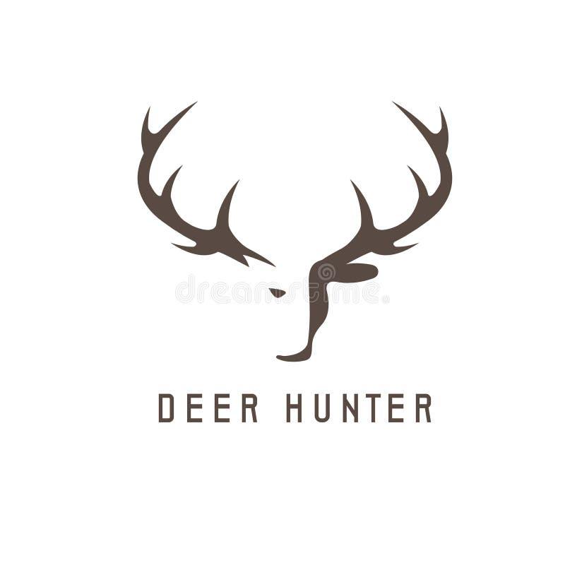 Deer head vector design template,hunting stock illustration