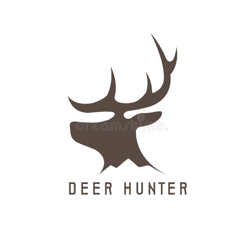 Deer head vector design template,hunting vector illustration