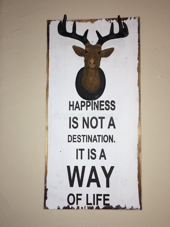 Deer head wall hanging royalty free stock image