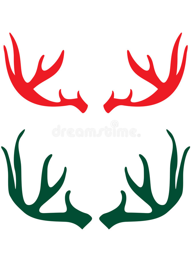 Deer horns stock illustration