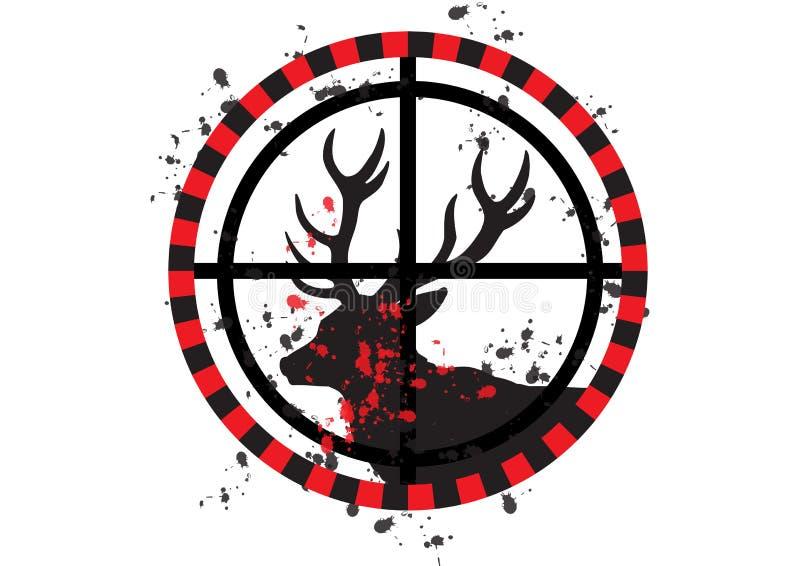 Deer hunt vector illustration