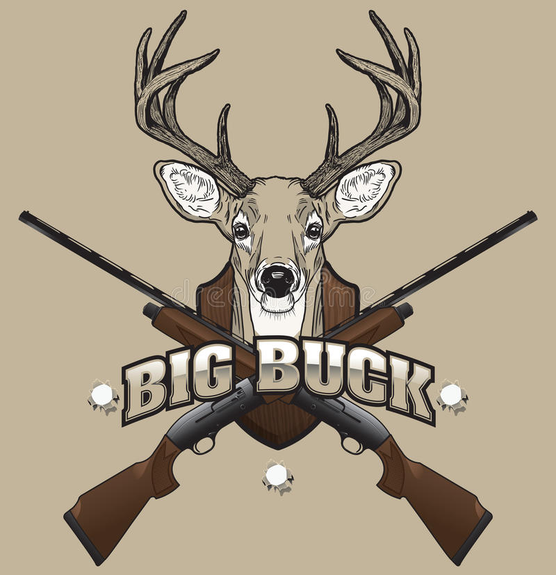 Deer Hunting Illustration Royalty Free Stock Images