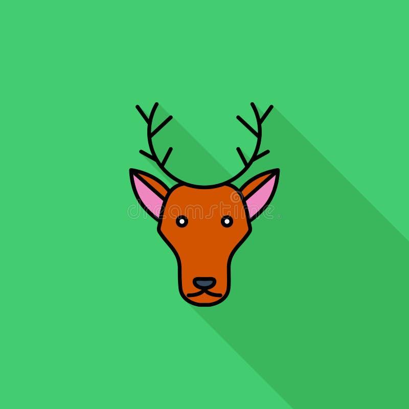 Deer icon vector illustration