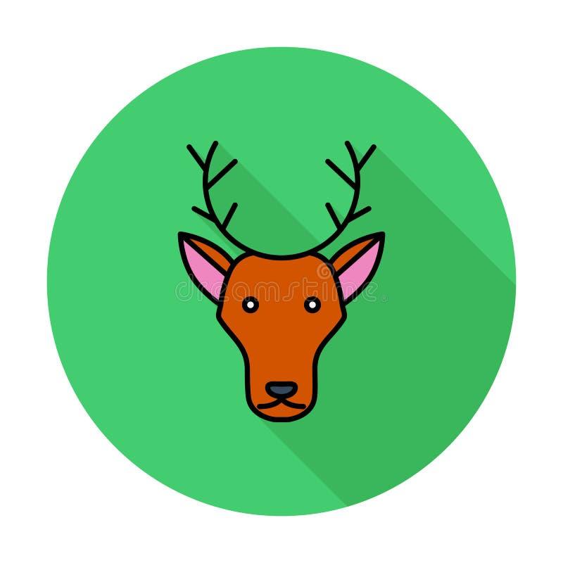 Deer icon stock illustration