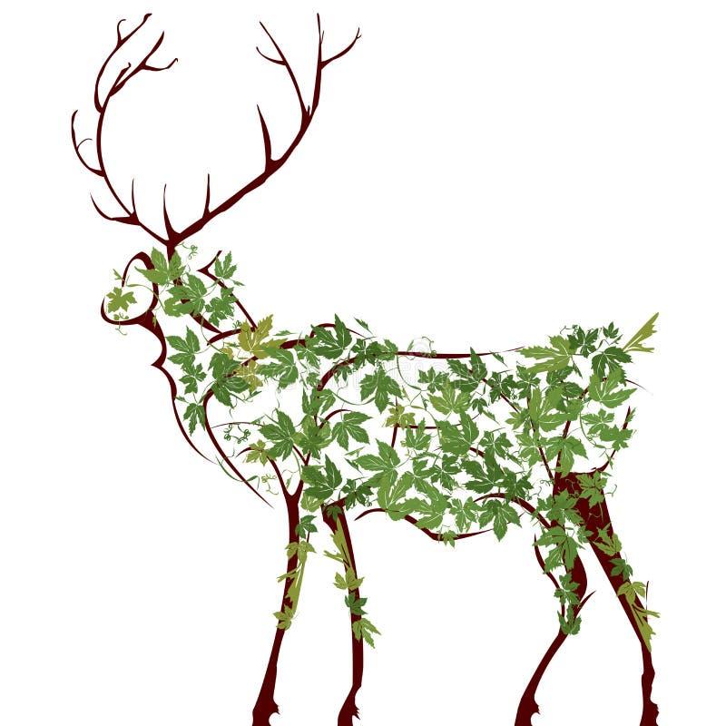 Download Deer illustration stock vector. Illustration of profile - 14093729