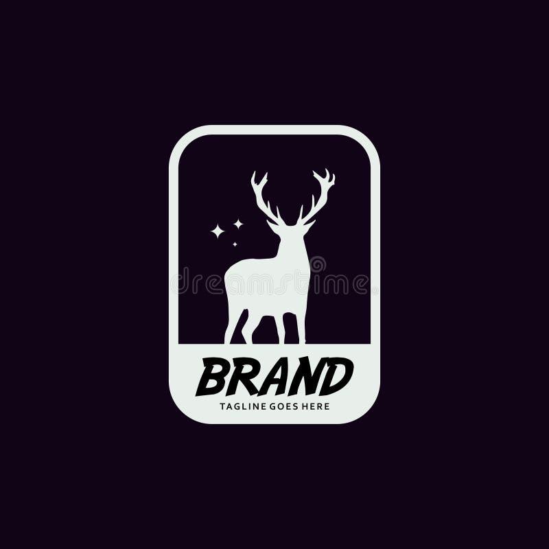 Deer label logo design template. Design elements for logo, label, emblem, sign. Vector illustration - Vector royalty free illustration