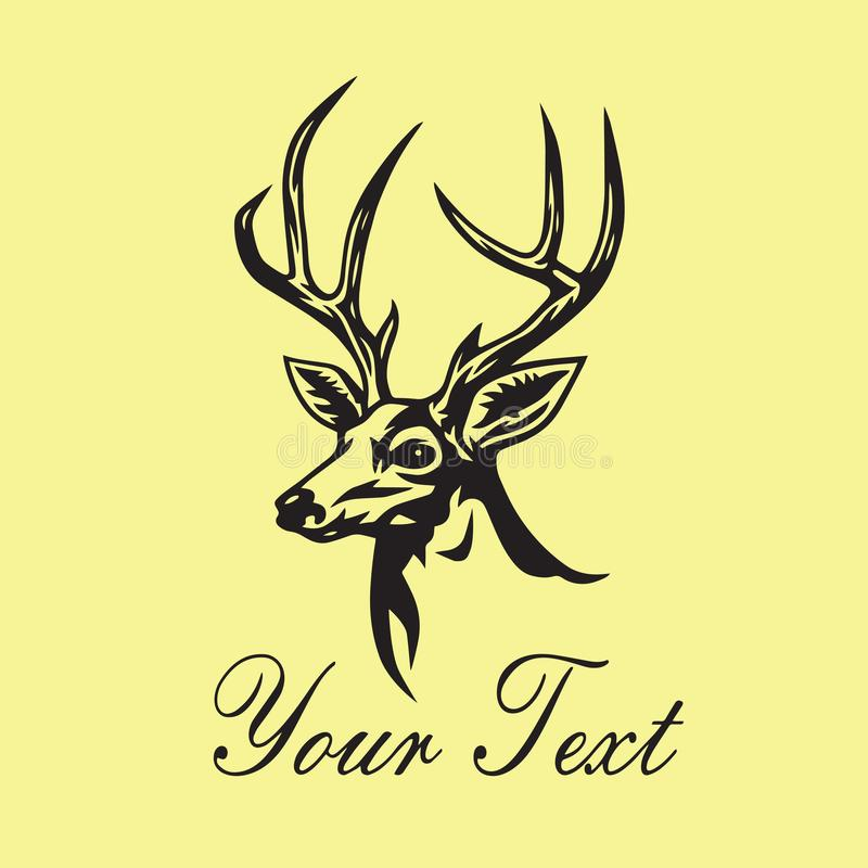 Deer Logo Template Vector Design Illustration vector illustration