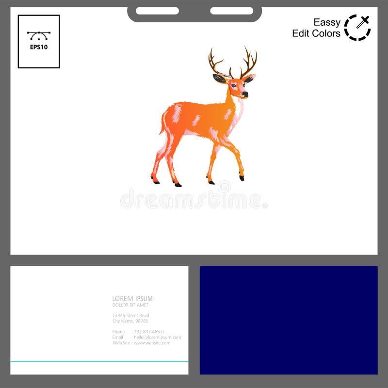 Deer Logo Concept For Outdoor Event Stock Vector