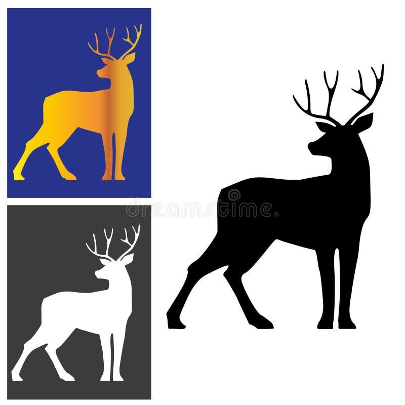 Deer logotype stock photos