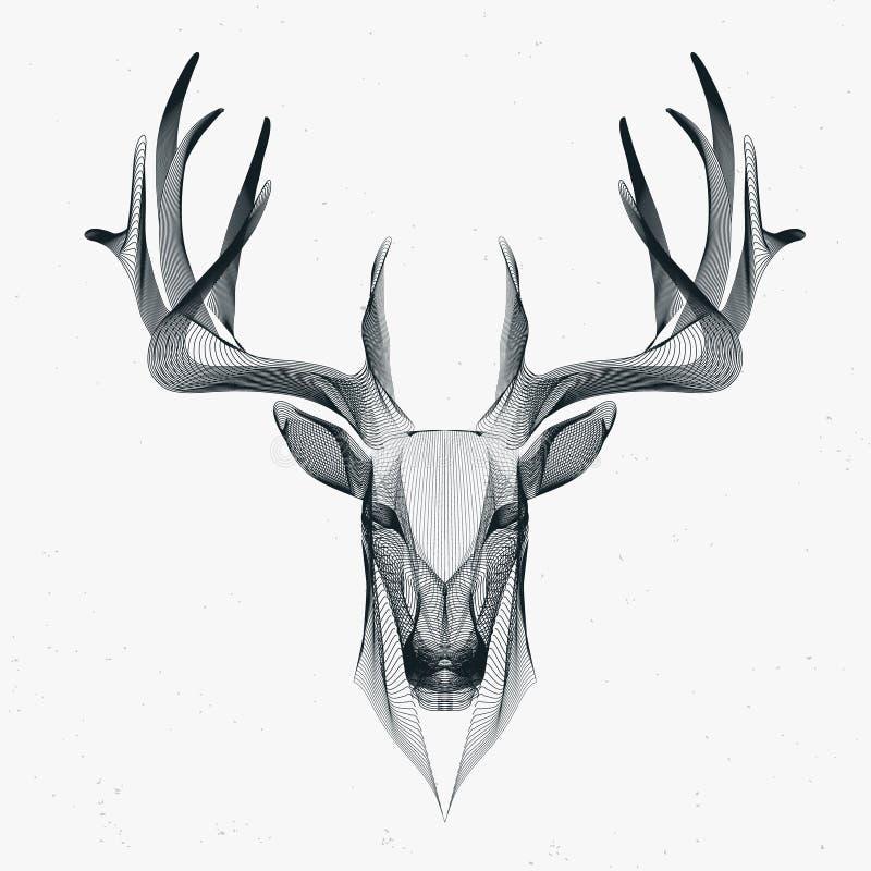 Deer particle stock illustration