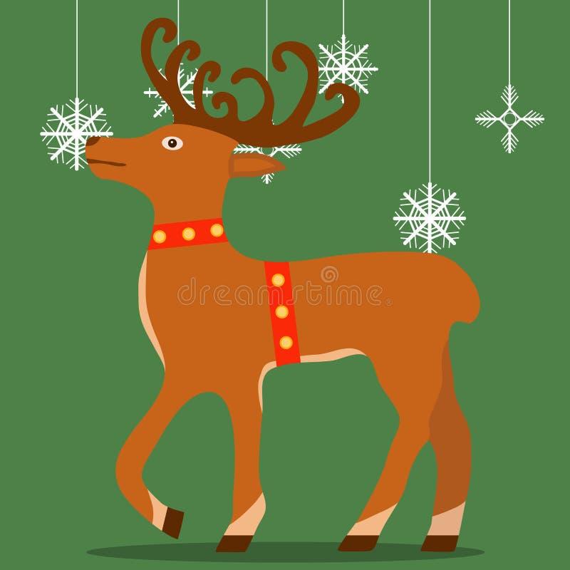 Deer of Santa Claus, New Year& x27;s deer. stock illustration