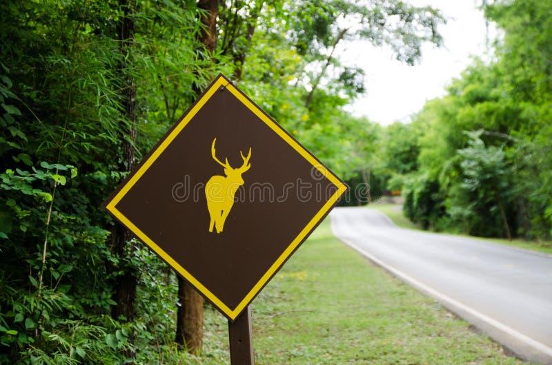 Download Deer sign stock image. Image of mountain, picnic, trip - 33713295