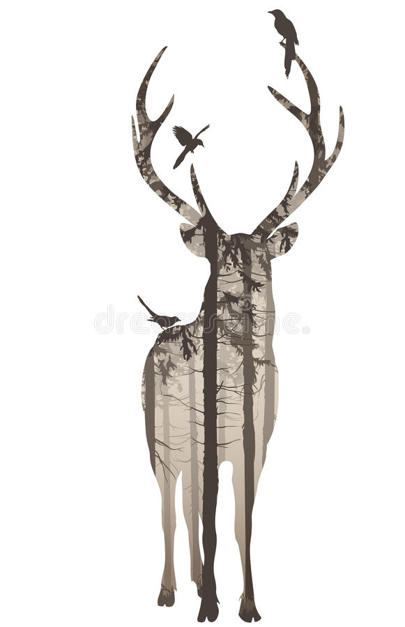download deer 2 stock vector illustration of forest isolated 34161979 - Reindeer Images 2